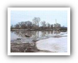 В Тосненском районе вышла из берегов река Саблинка