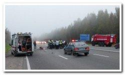В множественной аварии под Тосно пострадали 19 человек, в том числе дети