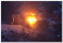 Пожар в Никольском на Речной улице